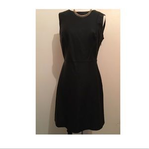 Zara black leather dress